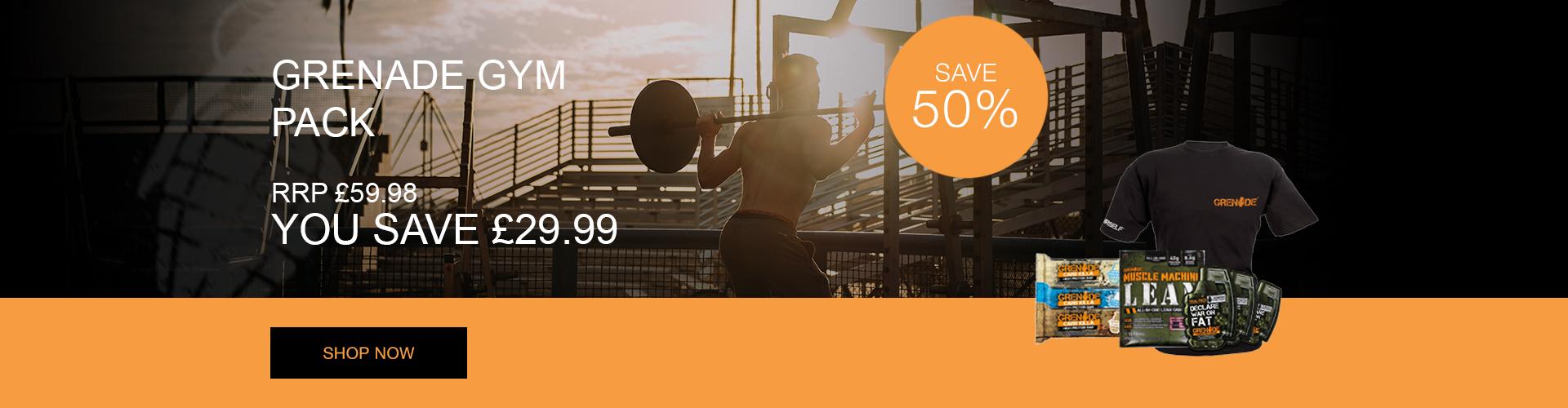 Grenade Gym pack - Save 50%