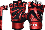 Bold Leather Weight Lifting Gloves