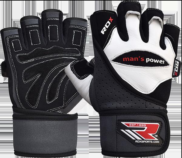 Gym Glove Leather White/Black