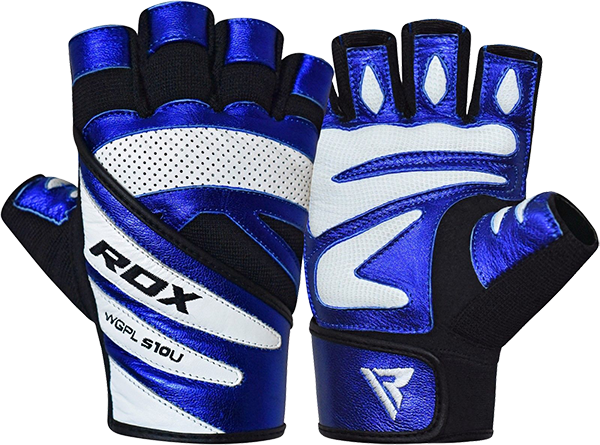 Gym Glove Metallic Leather L10 Blue