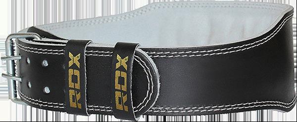 """Belt 4"""" Leather Black Gold"""