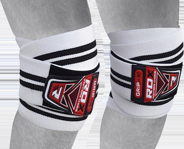 Gym Knee Wraps White/Black New