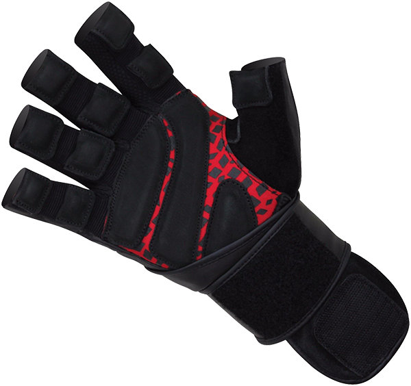 Gym Glove Leather Red/Black