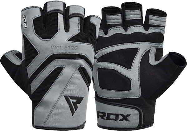 Gym Glove Leather S12 Gray