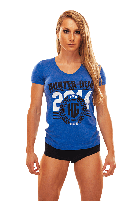 HG Tri-Blend Ladies V-Neck T-Shirt BLUE