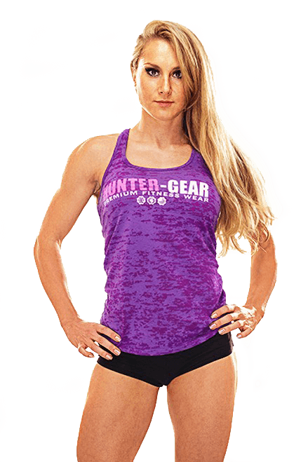 HG Burnout Ladies Razor Back Vest PURPLE