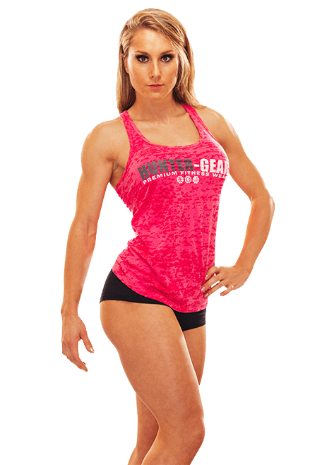 HG Burnout Ladies Razor Back Vest PINK