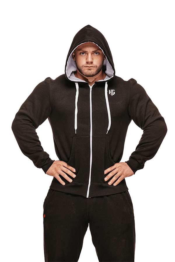 HG Be The Hunter Full Zip Hoodie BLACK