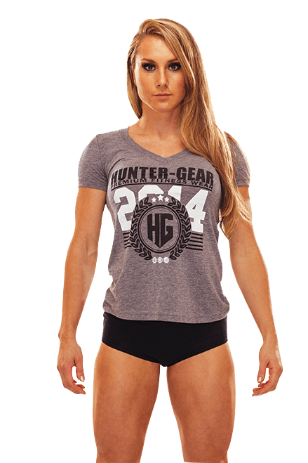 HG Tri-Blend Ladies V-Neck T-Shirt GREY