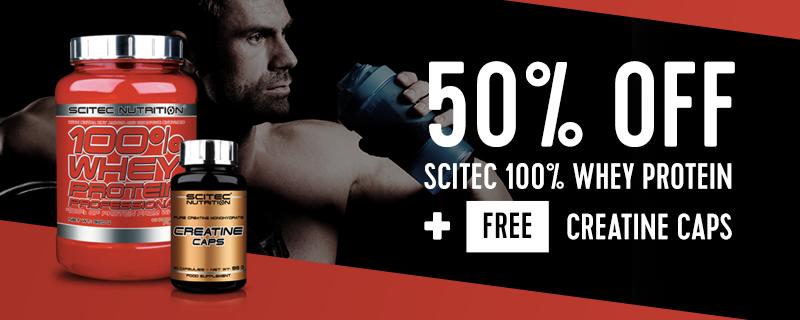 30% off Scitec BCAA Xpress plus free gym jug